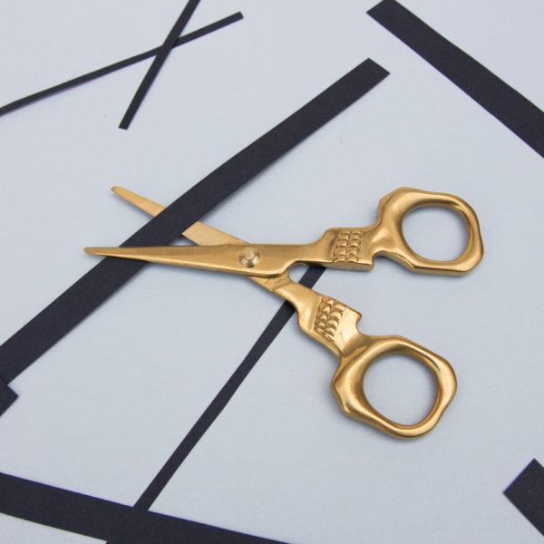 Skull Scissors In Decadent Gold Finish