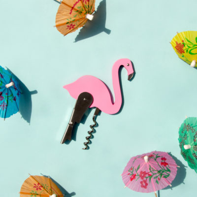 Pink Flamingo Bottle Opener