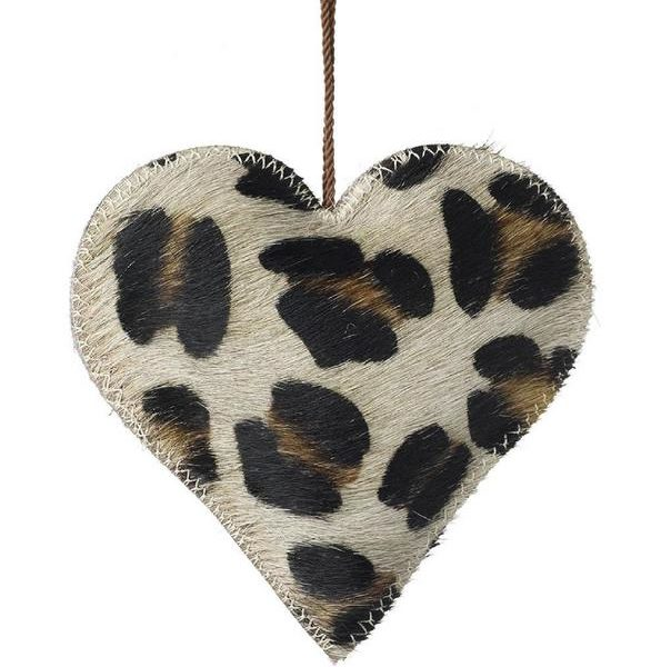 Animal Print Christmas Heart Decorations - Leopard Print Decoration
