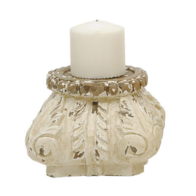 Distressed Decorative Candle Plinth