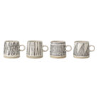 monochrome linear design artisan mugs