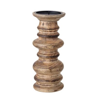 Mango Wood Pillar Candleholder - Large