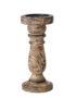Mango Wood Pillar Candleholder - Small