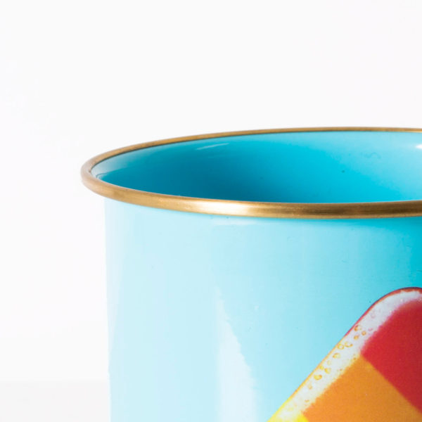 Total Melt Enamel Mug Close Up Top