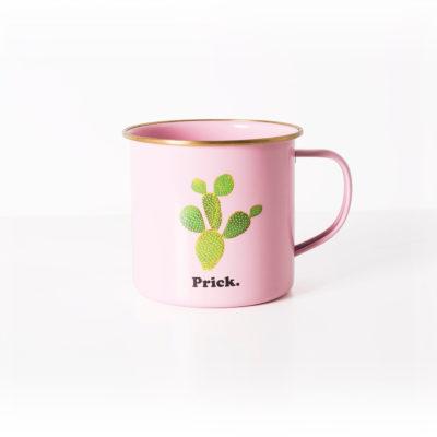 Bit Of A Prickly Cactus Enamel Mug