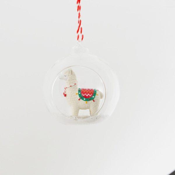 Festive Llama Open Bauble