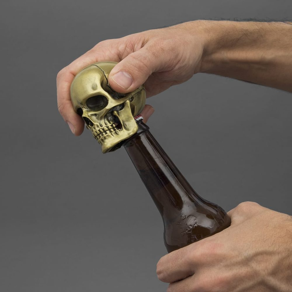 Matte Gold Skull Bottle Opener Love Frankie