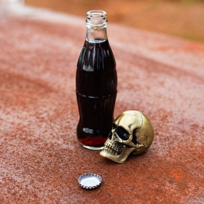Matte Gold Skull Bottle Opener