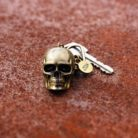 Matte Gold Skull Key Chain