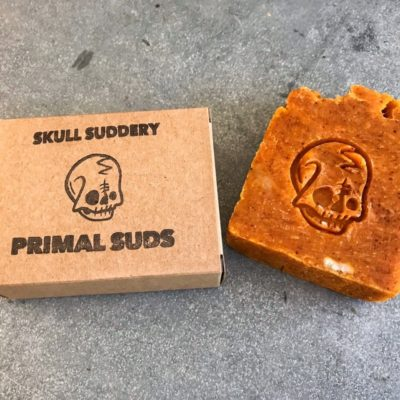 Orange Skull Suddery Soap