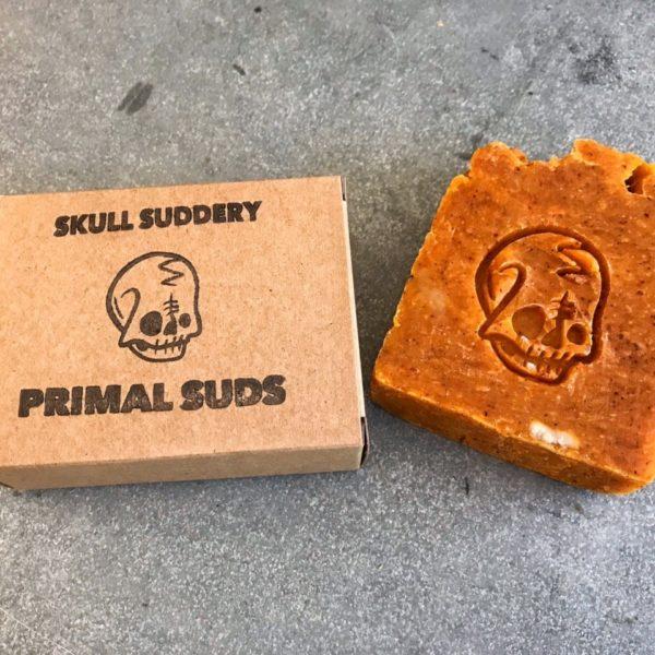 Orange Skull Suddery Soap