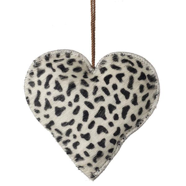 Animal Print Christmas Heart Decorations - Zebra Print Decoration