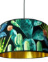 Spike Island Tropical Cactus Lampshade with Gold Lining