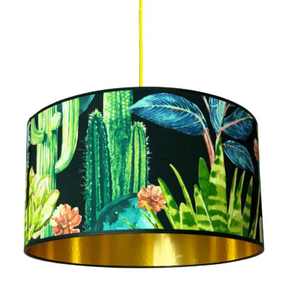 Spike Island Cactus Lampshade with Gold Lining