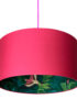 Bird Of Paradise Silhouette Lampshade in Watermelon Pink