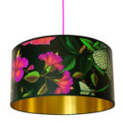 Leopardopterist Wallpaper Lampshade with Gold Lining