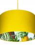 Pineapple Jungle Silhouette Lampshade in Egg Yolk Yellow
