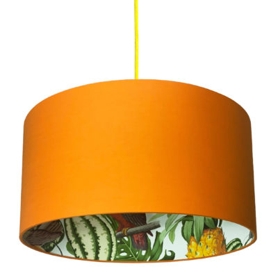 Pineapple Jungle Silhouette Lampshade in Tangerine Orange