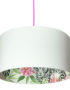 Snow Leopard Silhouette Lampshade in Snow White