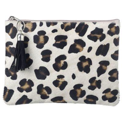 Wild Animal Print Goat Hide Clutch Bags - Leopard Print