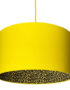 Banana Yellow Lampshade With Leopard Print Lining