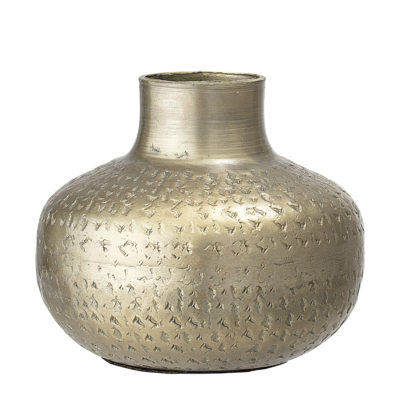 Brass Coloured Metal Vase