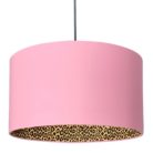 Dirty Pink and Leopard Print Lampshade