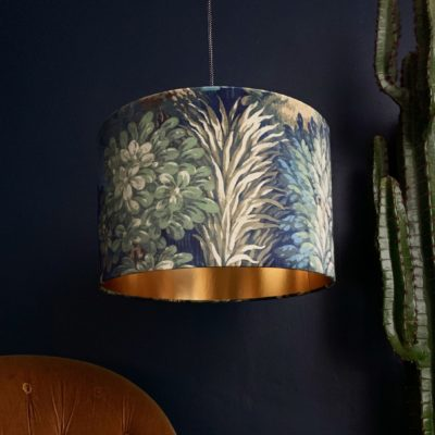 Grass Green Enchanted Wood Velvet Lampshade