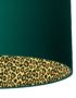 Hunter Green Lampshade With Leopard Print Lining