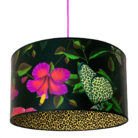 Leopardopterist Lampshade With Leopard Print Lining