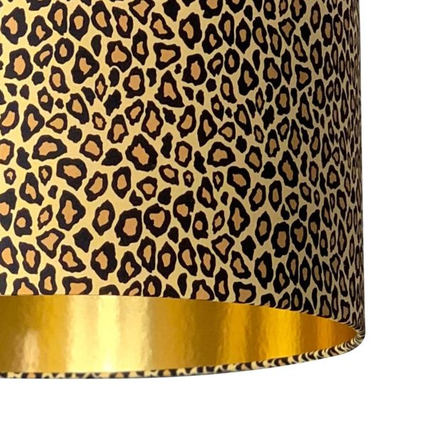 Leopard Print Lampshade With Gold Lining