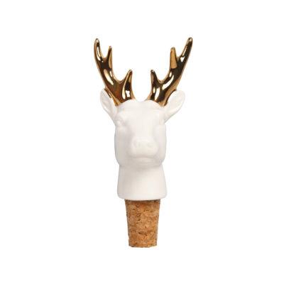 Porcelain Deer Bottle Stopper
