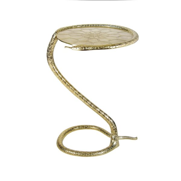 Gold Python Side Table