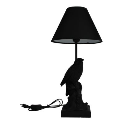 Jet Black Crow Lamp