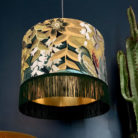 love frankie lampshade paradise lost velvet with green fringing