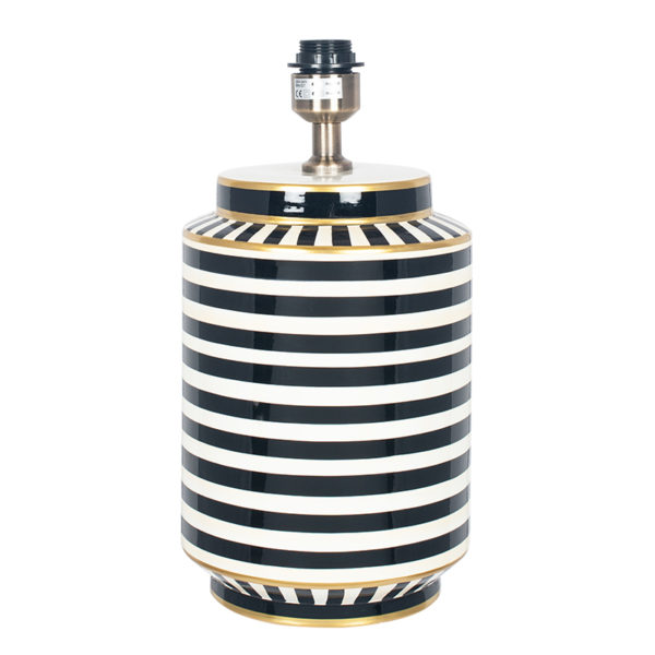 Large Black And White Stripy Lamp