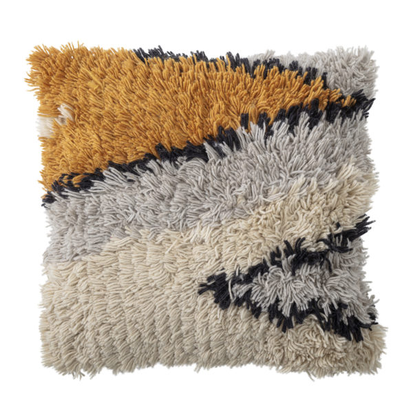 Large Wooly Multicoloured Cushion
