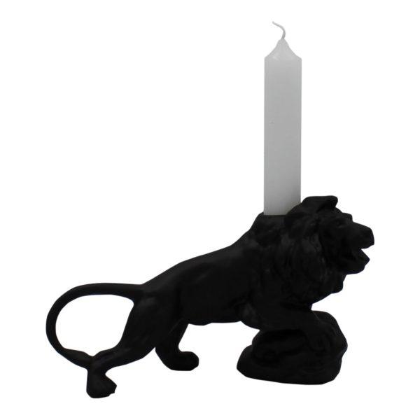 Black Lion Candle Holder