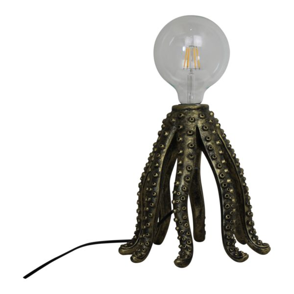 Gold Octopus Legs Lamp