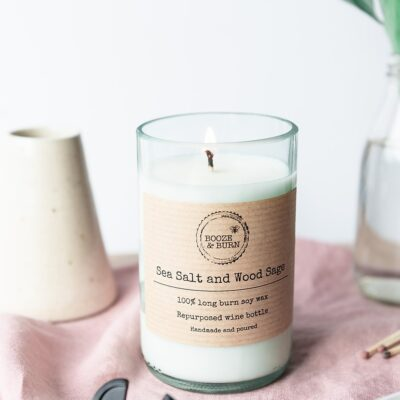 Sea Salt and Wood Sage Soy Candle