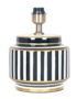 Small Black And White Stripy Lamp