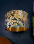 Paradise Lost Velvet Lampshade With Gold Lining