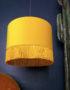 sunset yellow velvet lampshade