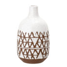 White and Terracotta Stoneware Vase