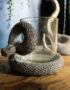 ANTIQUE BRONZE RATTLESNAKE TEALIGHT HOLDER