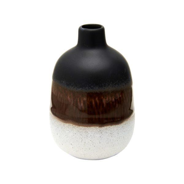 Mini Black Glazed Vase