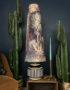 ENCHANTED WOODS VELVET KING & QUEEN OVERSIZED CONE LAMPSHADES IN CINAMMON