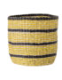 Large Yellow and Black Striped Seagrass Basket