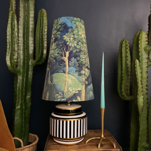 Grass Green Enchanted Queen Cone Velvet Lampshade