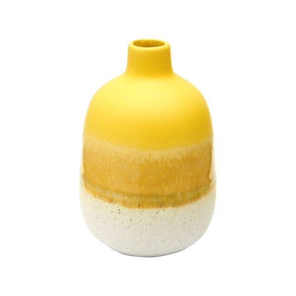 Mini Yellow Glazed Vase